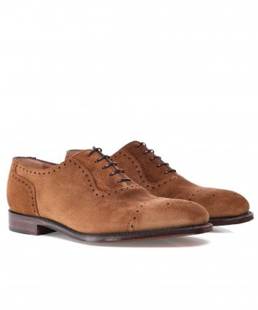 Suede Semi-Brogue Strand Oxford Shoes