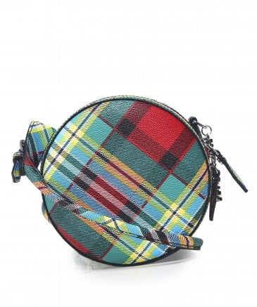Leather Shuka Tartan Cross Body Bag
