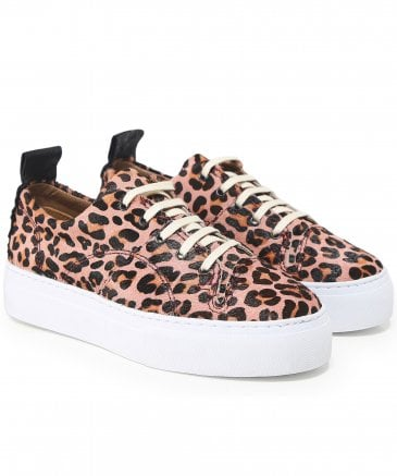 H by Hudson Women's Daphne Leopard Print Trainers