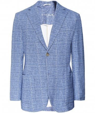 Stretch Cotton Prince of Wales Check Jacket
