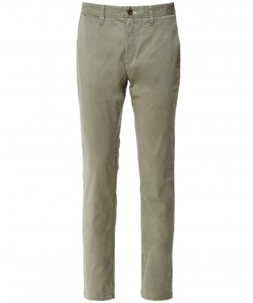Slim Fit Satin Cotton Chinos