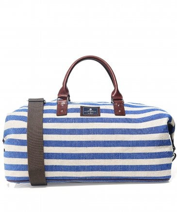 Striped Cotton Canvas Holdall