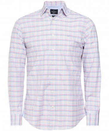 Slim Fit Melange Gingham Shirt