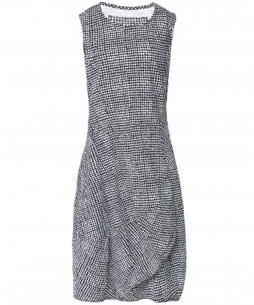 Rundholz Women's Houndstooth Print Sleeveless Dress