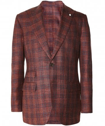 Silk Blend Check Jacket