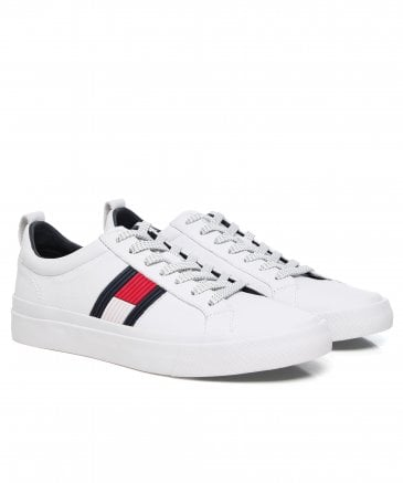 Tumbled Leather Flag Trainers