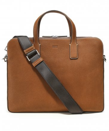Leather Crosstown C_Doc zips Briefcase