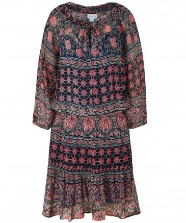 Beth Monaco Print Peasant Dress