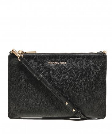 MICHAEL Michael Kors Women's Pebbled Leather Double Pouch Crossbody Bag