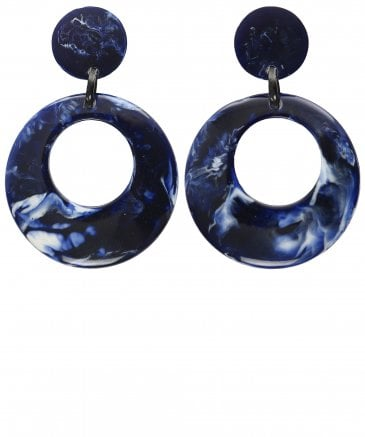 Nouv-Elle Women's Circular Drop Earrings