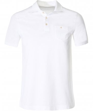 Cotton Jersey Pocket Polo Shirt
