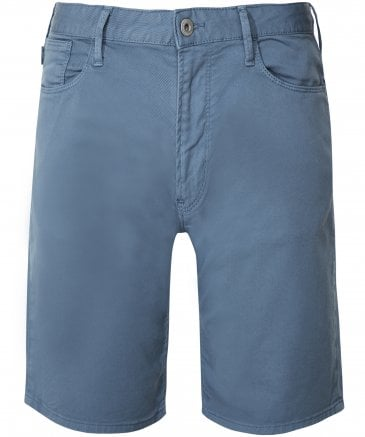 Stretch Twill Cotton Shorts
