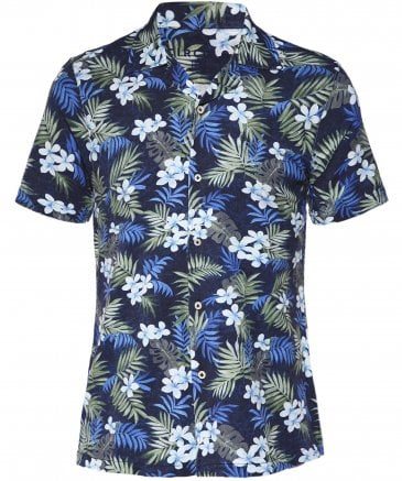 Cotton Jersey Hawaiian Floral Shirt