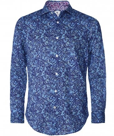 Cotton Micro Floral Shirt