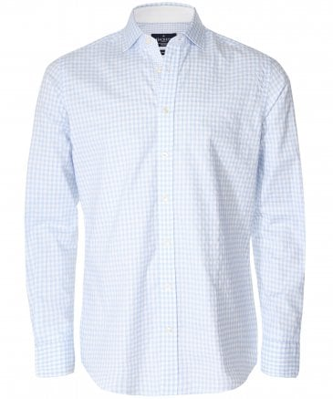 Slim Fit Textured Gingham Shirt