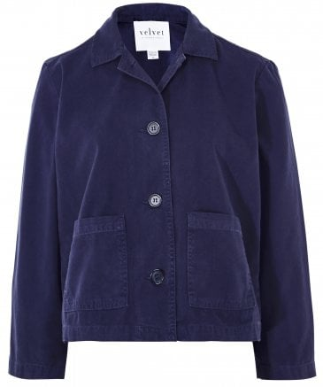 Magdalin Canvas Crop Jacket