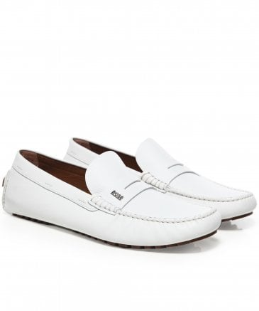 Tumbled Leather Driver_Mocc_grhw Loafers