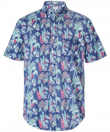 Slim Fit Tropical Print Sander Shirt