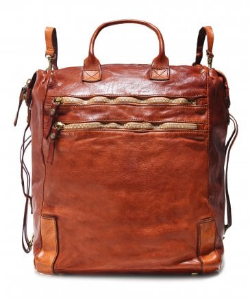 Leather Shopper Backpack