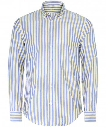 Fitted Body Striped Oxford Shirt