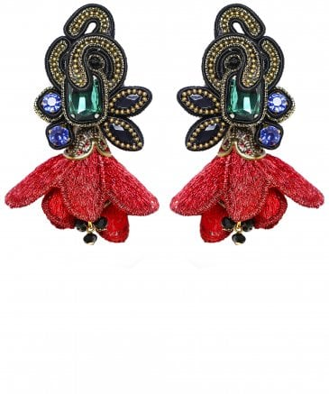 Viridiana Jewel Flower Earrings