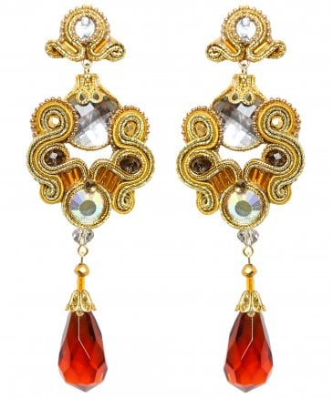 Coral Jewel Earrings