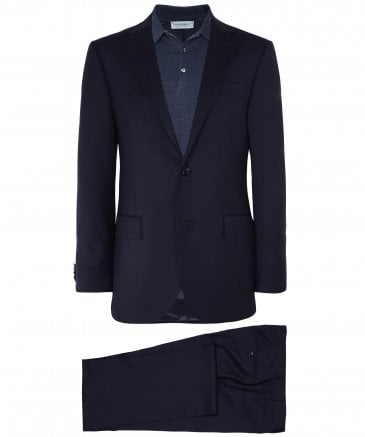 Virgin Wool Micro Check Suit