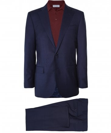 Virgin Wool Prince of Wales Check Suit