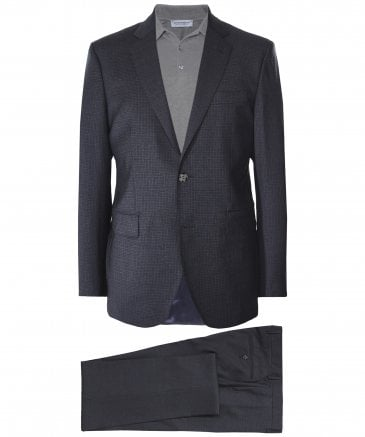 Wool Micro Check Suit