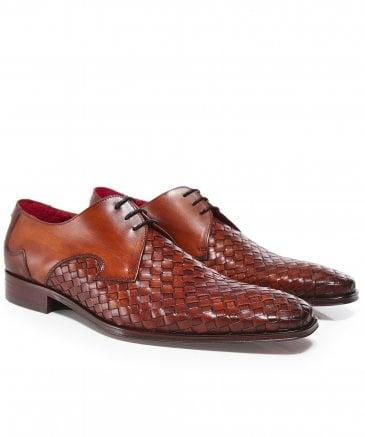 Woven Leather Scarface Shoes