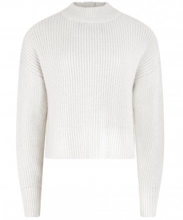 Cass Merino Wool Button Back Jumper