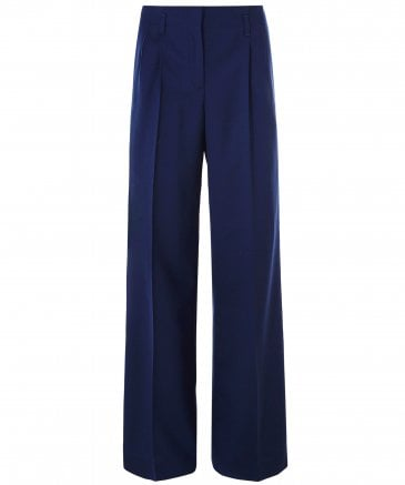 Wool Parallel Leg Trousers