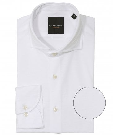Tailored Fit Pima Cotton Henry Shirt