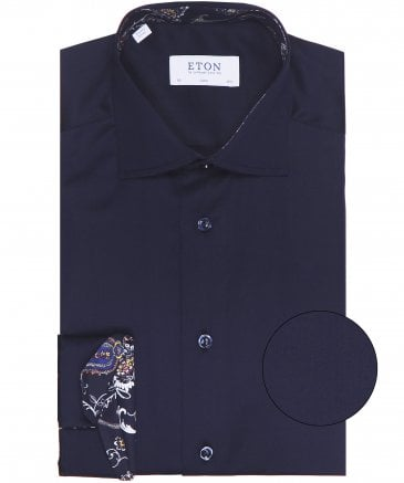 Slim Fit Paisley Trim Shirt
