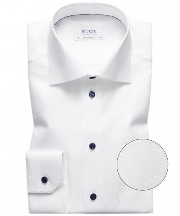Slim Fit Textured Dot Shirt
