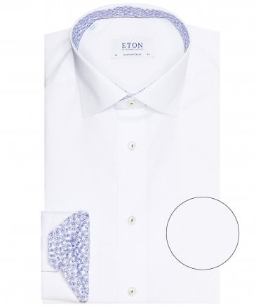 Contemporary Fit Paisley Trim Shirt