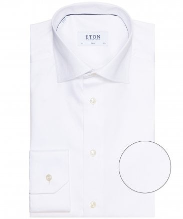 Slim Fit Herringbone Shirt