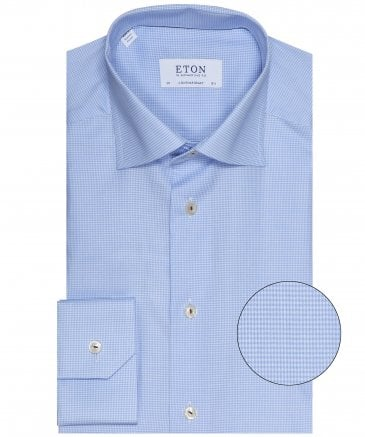 Contemporary Fit Micro Houndstooth Shirt