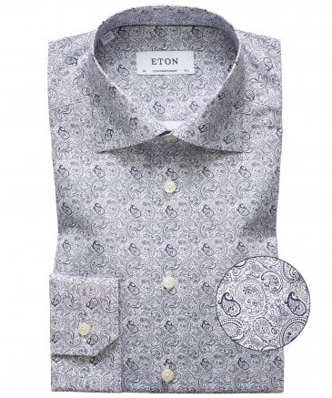 Slim Fit Paisley Shirt