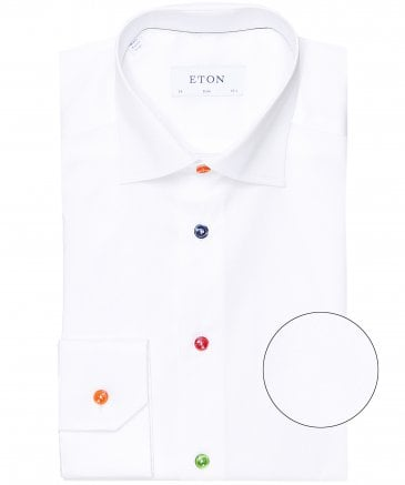 Slim Fit Multi Button Shirt