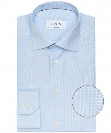 Slim Fit Micro Geometric Shirt