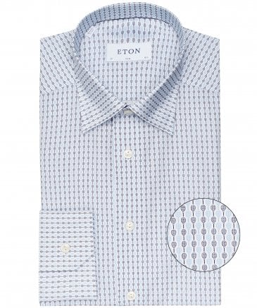 Slim Fit Racquet Print Shirt