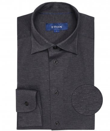Slim Fit Pique Cotton Shirt