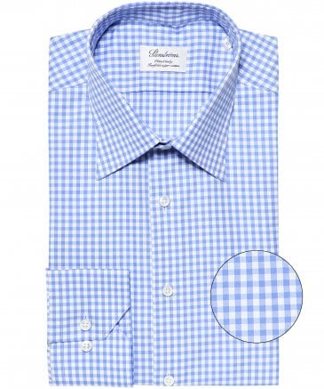 Fitted Body Gingham Shirt