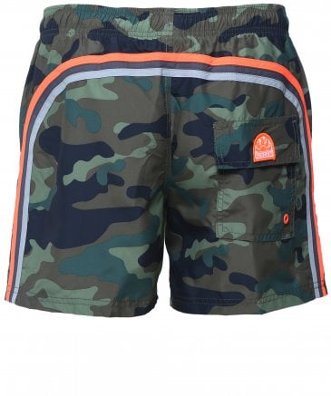 Mid-Length Camouflage Board Shorts