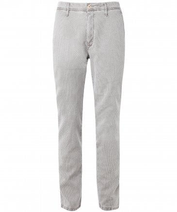 Slim Fit Woven Textured Lupus Trousers