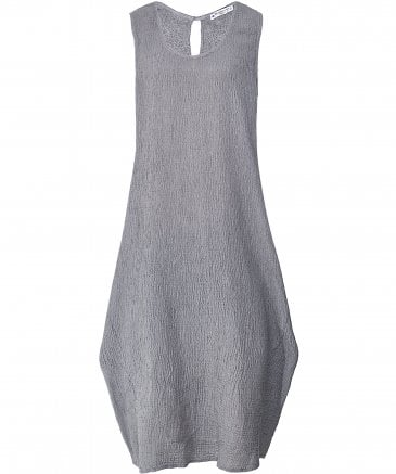 Linen Sleeveless Crepe Dress