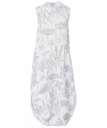 Linen Wildflower Print Dress
