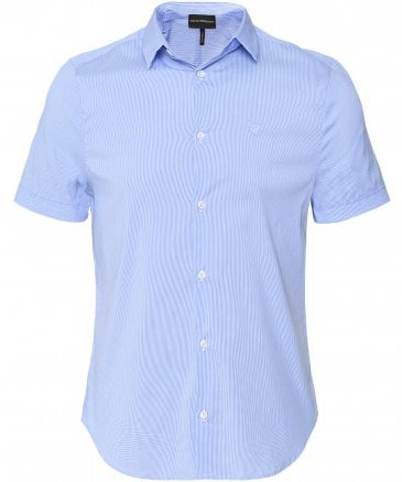Stretch Short Sleeve Gingham Shirt
