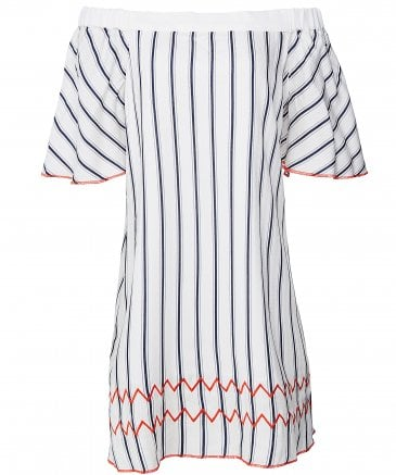 Nera Stripe Bardot Dress